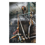 Steampunk - The Steam Engine Personalized Stationery