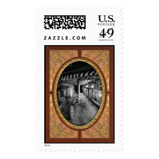 Steampunk - The steam tunnel Postage Stamp