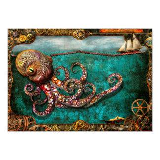 Steampunk - The tale of the Kraken Custom Invitations