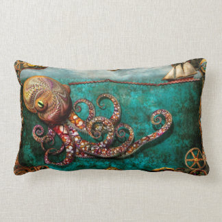 Steampunk - The tale of the Kraken Lumbar Pillow