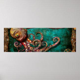 Steampunk - The tale of the Kraken Print