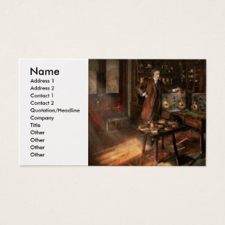 Steampunk - The time traveler 1920 Business Card