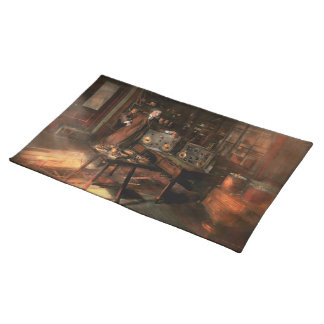Steampunk - The time traveler 1920 Cloth Placemat