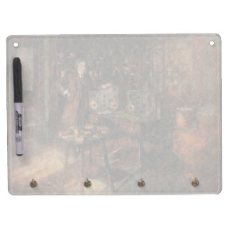 Steampunk - The time traveler 1920 Dry Erase Board With Keychain Holder