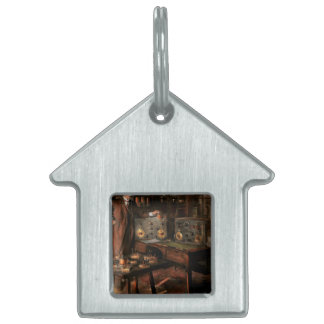 Steampunk - The time traveler 1920 Pet Tag