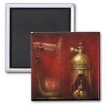 Steampunk - The Torch 2 Inch Square Magnet