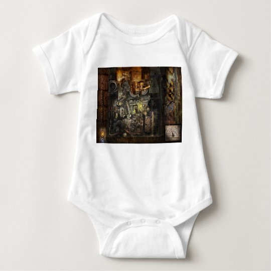 Steampunk - The Turret Computer Baby Bodysuit