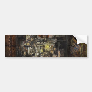 Steampunk - The Turret Computer Bumper Sticker
