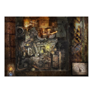 Steampunk - The Turret Computer Card