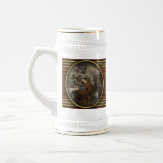 Steampunk - The wireless apparatus - 1905 Beer Stein