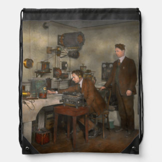Steampunk - The wireless apparatus - 1905 Drawstring Backpack