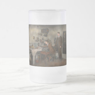 Steampunk - The wireless apparatus - 1905 Frosted Glass Beer Mug