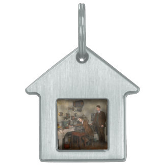Steampunk - The wireless apparatus - 1905 Pet Tag