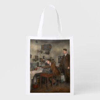 Steampunk - The wireless apparatus - 1905 Reusable Grocery Bag