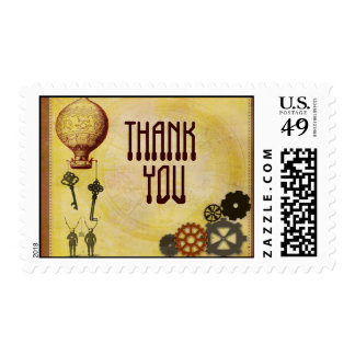 STEAMPUNK theme THANK YOU stamps