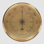 Steampunk Thermometer Round Stickers