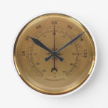 Steampunk Thermometer Round Wall Clocks