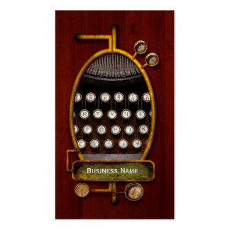 Steampunk - Things that changed Business Card Template