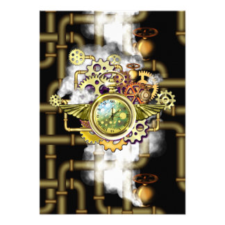 Steampunk Time Card