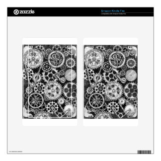 Steampunk Time Direction Kindle Fire Skins