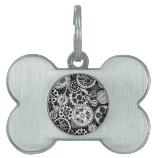 Steampunk Time Direction Pet ID Tag