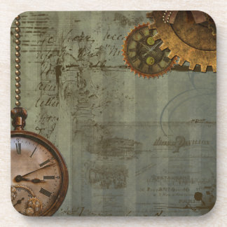 Steampunk Time Machine Beverage Coaster