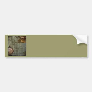 Steampunk Time Machine Bumper Sticker