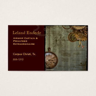 Steampunk Time Machine Business Profile Cards