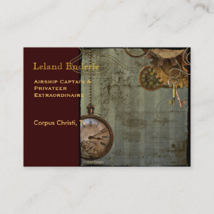 Watch business cards templates zazzle steampunk time machine business profile cards colourmoves