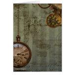 Steampunk Time Machine Card