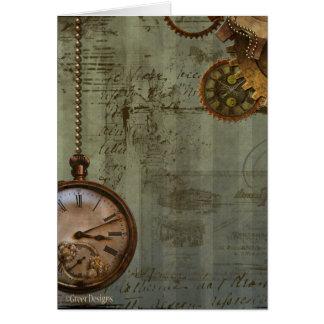 Steampunk Time Machine Cards