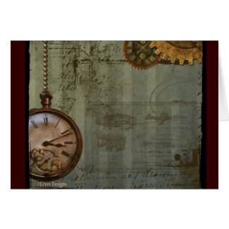 Steampunk Time Machine Greeting Cards