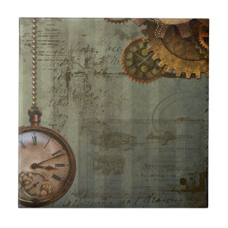 Steampunk Time Machine Ceramic Tile