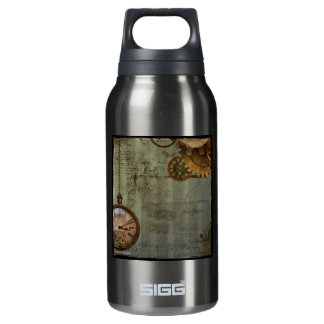 Steampunk Time Machine Insulated Water Bottle