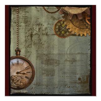 Steampunk Time Machine Invitations