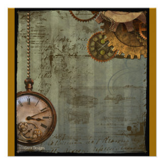 Steampunk Time Machine Custom Invitation