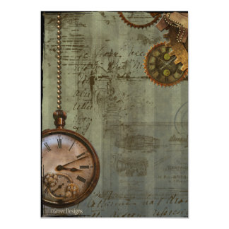 Steampunk Time Machine Invite