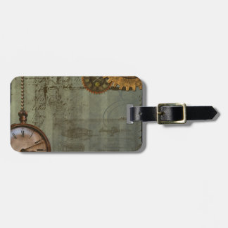 Steampunk Time Machine Luggage Tag