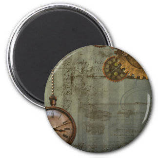 Steampunk Time Machine Magnet