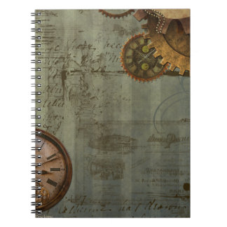 Steampunk Time Machine Notebook