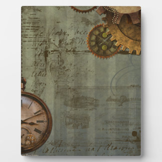 Steampunk Time Machine Photo Plaques