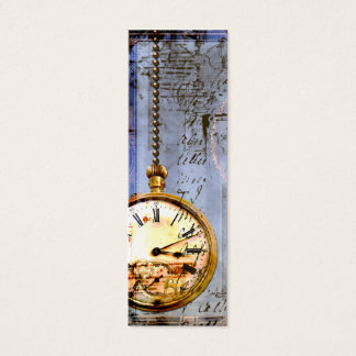 Steampunk Time Machine Pocket Watch Business Card
