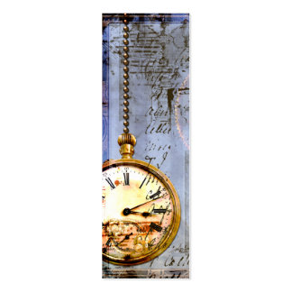 Steampunk Time Machine Pocket Watch Business Card