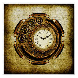 Steampunk Time Machine Poster