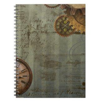 Steampunk Time Machine Spiral Note Books