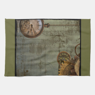 Steampunk Time Machine Towels