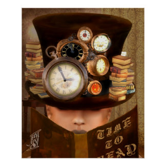 "Steampunk - ""Time to Read"" Posters"
