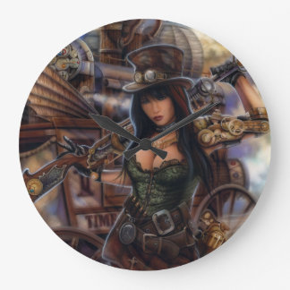 Steampunk Time Traveler Clock! Large Clock