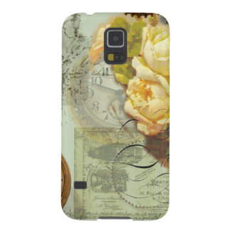 Steampunk Time & Yellow Roses Galaxy S5 Case