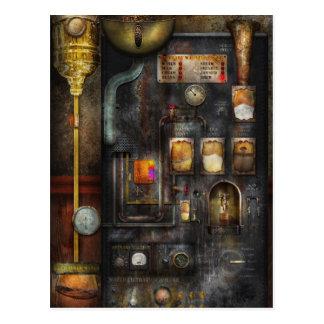 Steampunk - todo el eso para una taza de café postal